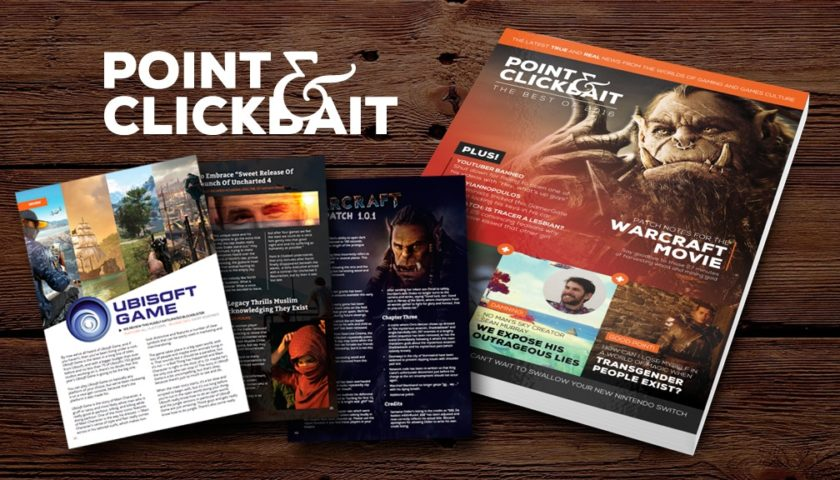 Get The Best Gaming Satire on the Planet with Point & Clickbait