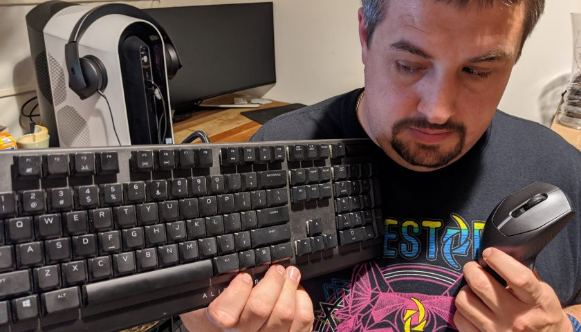 Player 2 Vs Alienware Round 2: The Keyboard and Mouse 1-2 Punch.